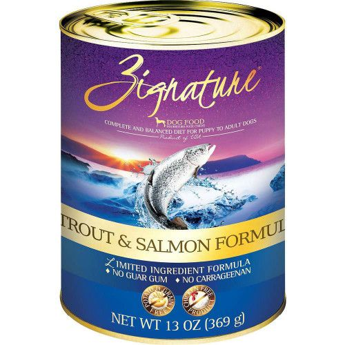 Zignature Limited Ingredient Grain Free Trout & Salmon Dog Food 13 oz