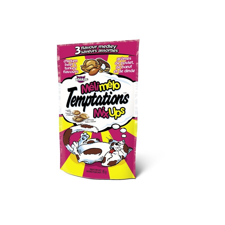 Temptations Mix-Ups Cat Treats Chicken, Beef & Turkey Flavors 85g