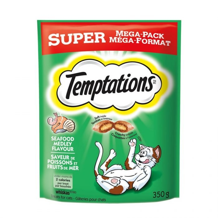 Temptations Cat Treats Seafood Medley Flavor 350g