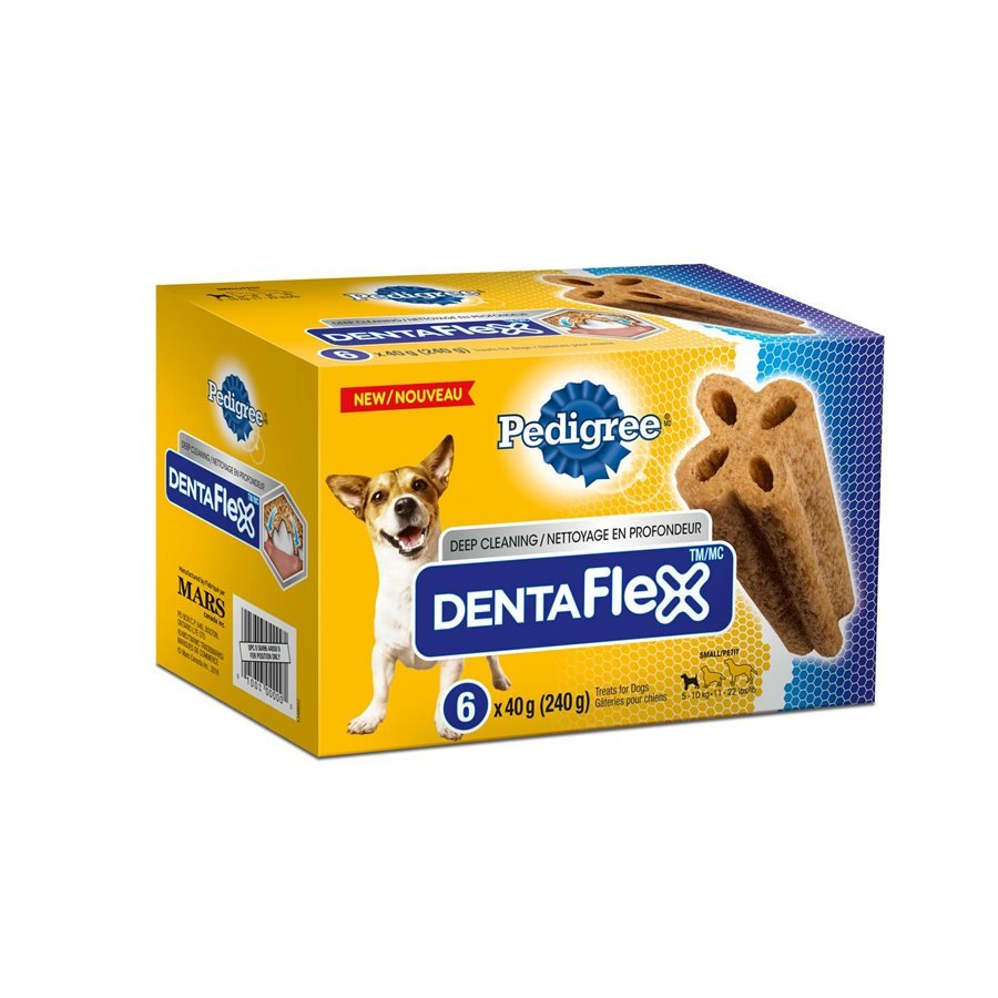 Pedigree DentaFlex Oral Care Treats for Small Dogs 6 Count 240g
