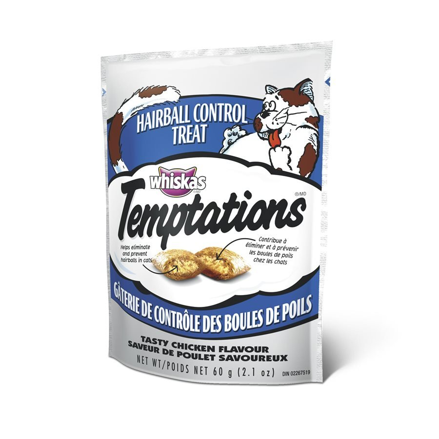 Temptations Hairball Control Cat Treats Tasty Chicken Flavor 60g