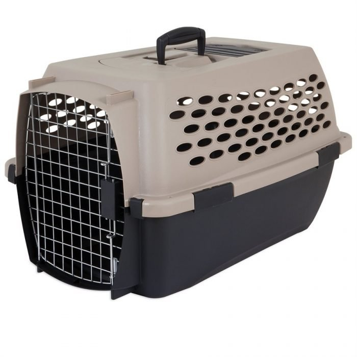 "Petmate Vari Kennel 24"" 15-20lbs Tan/Black"