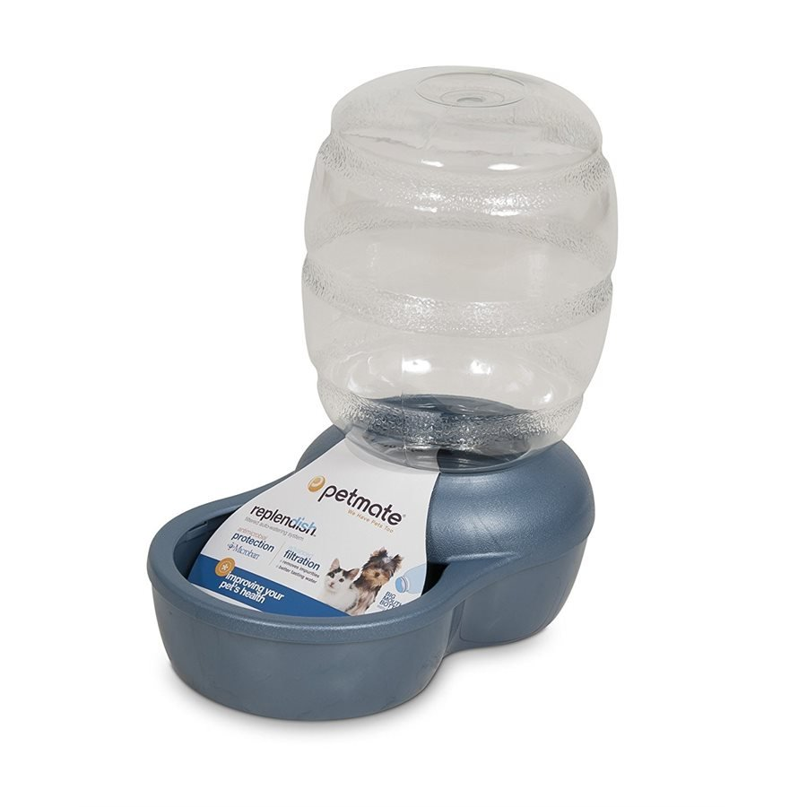 Petmate Replendish 0.5 Gallon Waterer with Microban Peacock Blue