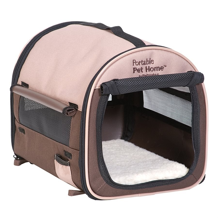 Petmate Portable Pet Home Small Taupe/Brown