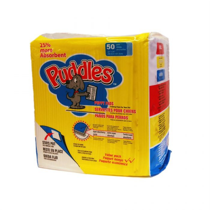 "Puddles 23"" x 24"" Training Pads 50 Count"