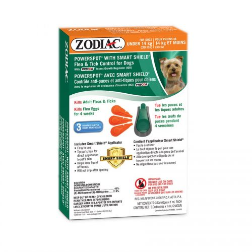 Zodiac Smart Shield Powerspot Dog Under 30lb