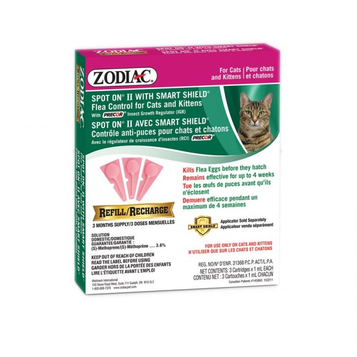 Zodiac SS Spot On II Cat/Kitten Refill
