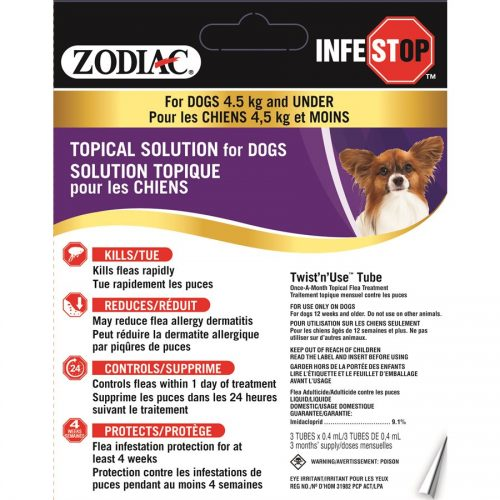 Zodiac Infestop Topical Flea Adulticide for Dogs Under 4.5KG