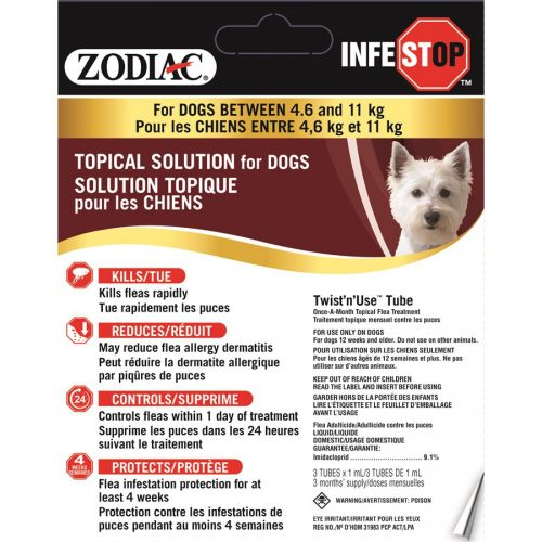 Zodiac Infestop Topical Flea Adulticide for Dogs 4.6KG - 11KG