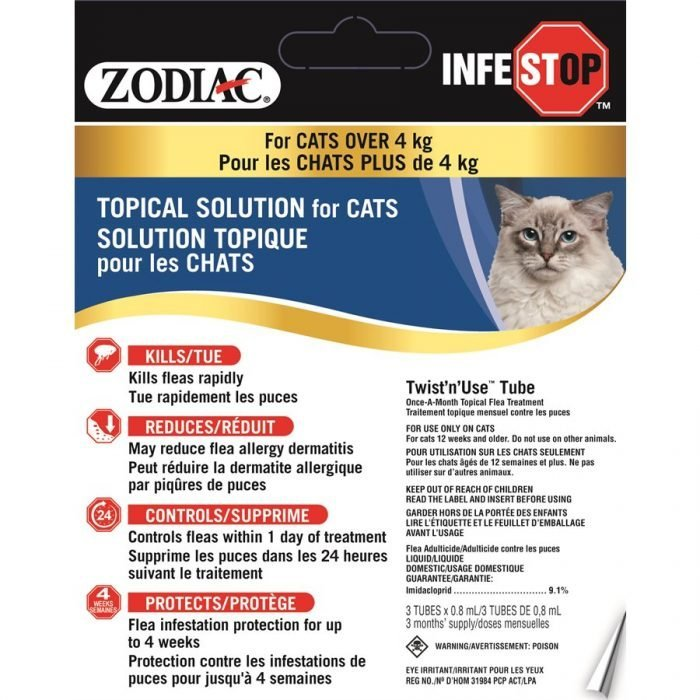 Zodiac Infestop Topical Flea Adulticide for Cats Over 4KG