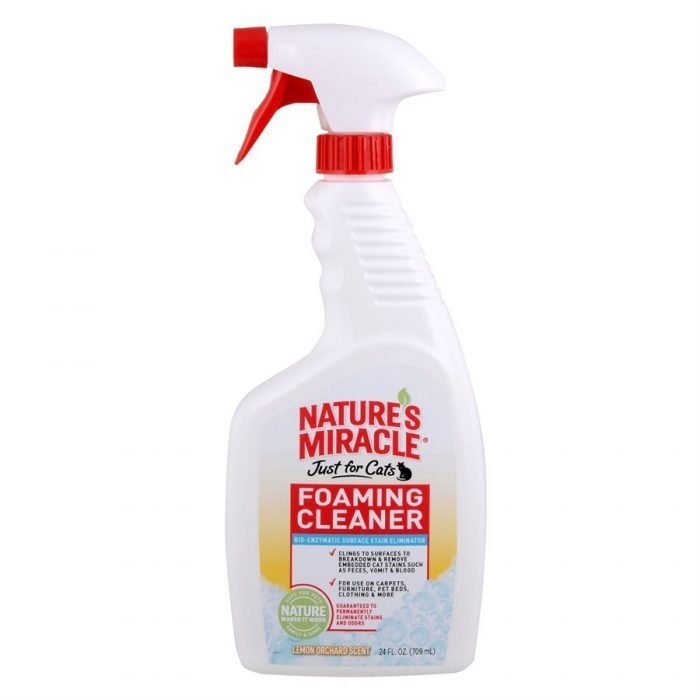 Spectrum Nature's Miracle Just for Cats Foam Cleaner Lemon Scent 24oz