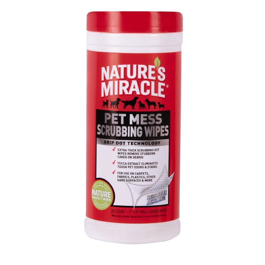 Spectrum Nature's Miracle Pet Mess Scrubbing Wipes 30CT