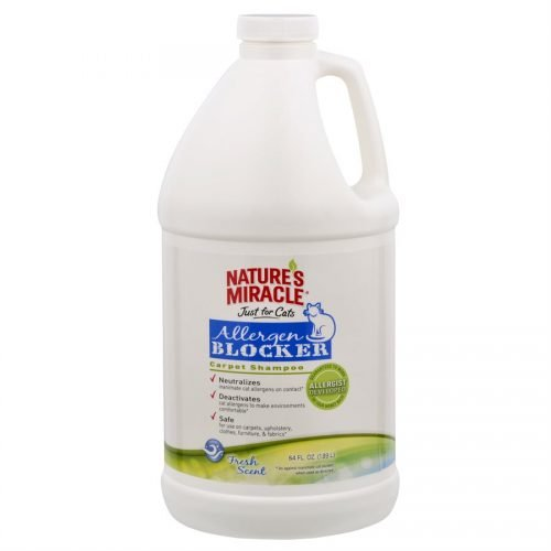 Spectrum Nature's Miracle Just for Cats Allergen Blocker Carpet Shampoo 64oz