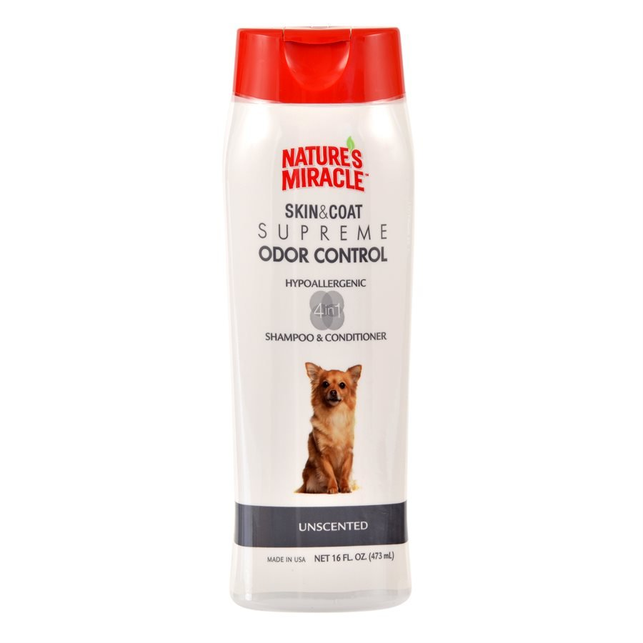 UPG Nature's Miracle Supreme Odor Control Hypoallergenic Shampoo 16oz