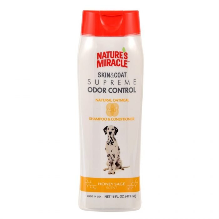 UPG Nature's Miracle Supreme Odor Control Oatmeal Shampoo 16oz