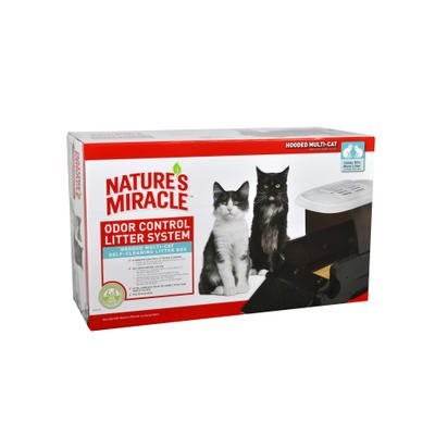 NM Hooded Multi-Cat Self Cleaning Litter Box