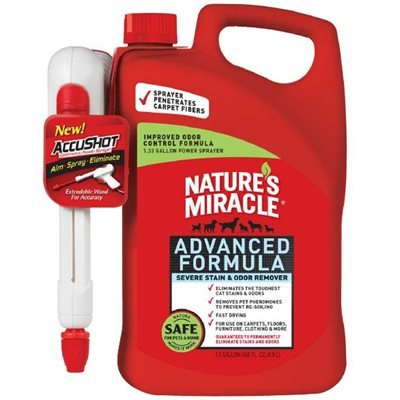 Spectrum Nature's Miracle AccuShot Advanced Stain & Odor Remover 1.33 Gallon 170oz