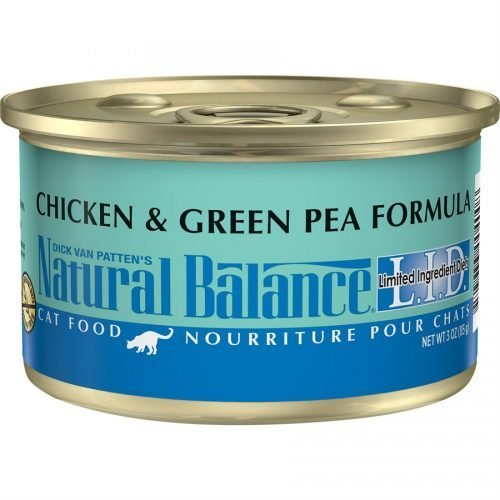 Natural Balance Cat LID Chicken & Green Pea Formula Cans 24/3oz