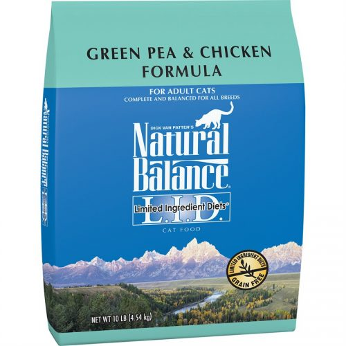 Natural Balance Cat LID Green Pea & Chicken Formula 10LB