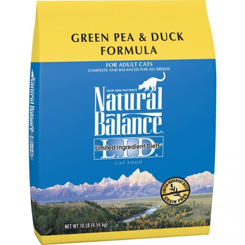 Natural Balance Cat LID Green Pea & Duck Formula 10LB