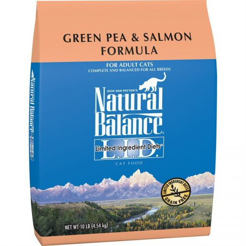 Natural Balance Cat LID Green Pea & Salmon Formula 10LB