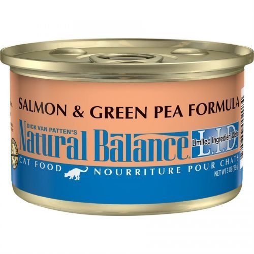 Natural Balance Cat LID Salmon & Green Pea Formula Cans of 24