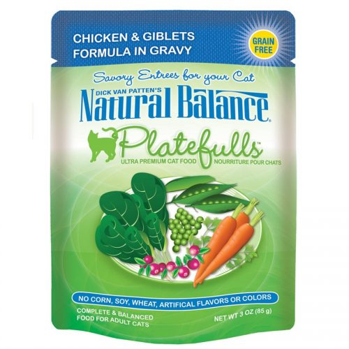 Natural Balance Cat Platefulls Chicken & Giblets Formula Case of 24