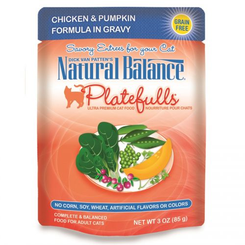 Natural Balance Cat Platefulls Chicken & Pumpkin Formula 24/3oz