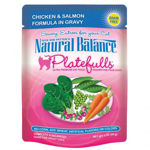 Natural Balance Cat Platefulls Chicken & Salmon Formula 24/3oz