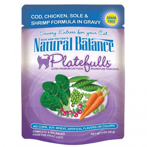 Natural Balance Cat Platefulls Cod, Chicken, Sole & Shrimp Formula 24/3oz