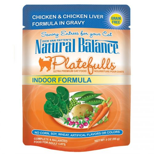 Natural Balance Cat Platefulls Indoor Chicken & Chicken Liver Formula 24/3oz