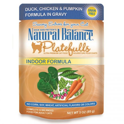 Natural Balance Cat Platefulls Indoor Duck, Chicken & Pumpkin Formula 24/3oz