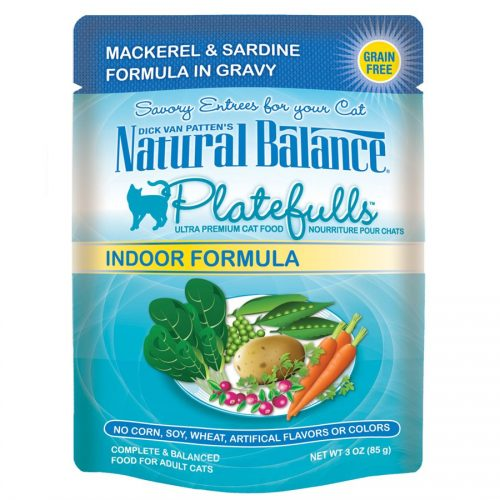 Natural Balance Cat Platefulls Indoor Mackerel & Sardine Formula 24/3oz