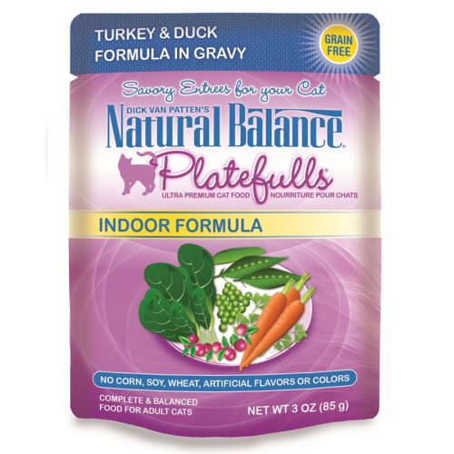 Natural Balance Cat Platefulls Indoor Turkey & Duck Formula 24/3oz
