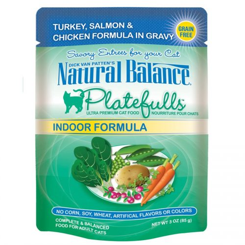 Natural Balance Cat Platefulls Indoor Turkey & Salmon Formula 24/3oz