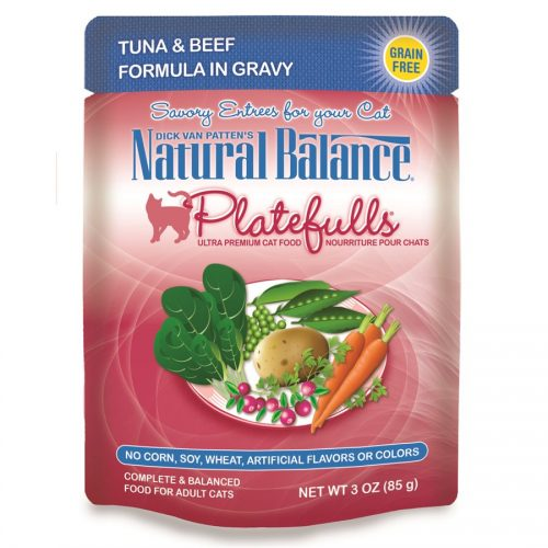 Natural Balance Cat Platefulls Tuna & Beef Formula 24/3oz
