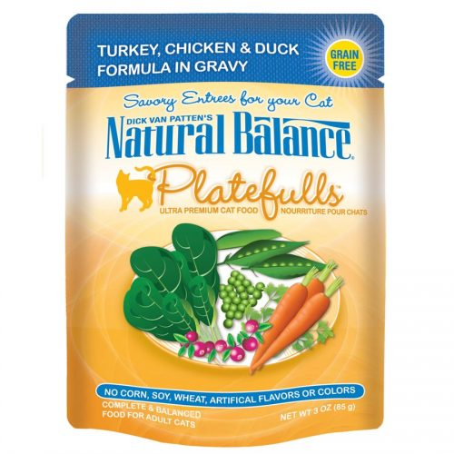 Natural Balance Cat Platefulls Turkey, Chicken & Duck Formula 24/3oz
