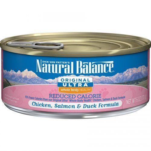 Natural Balance Cat Reduced Calorie Chicken, Salmon & Duck Formula Cans 24/6oz