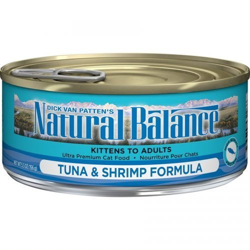 Natural Balance Cat Tuna & Shrimp Formula Cans 24/5.5oz