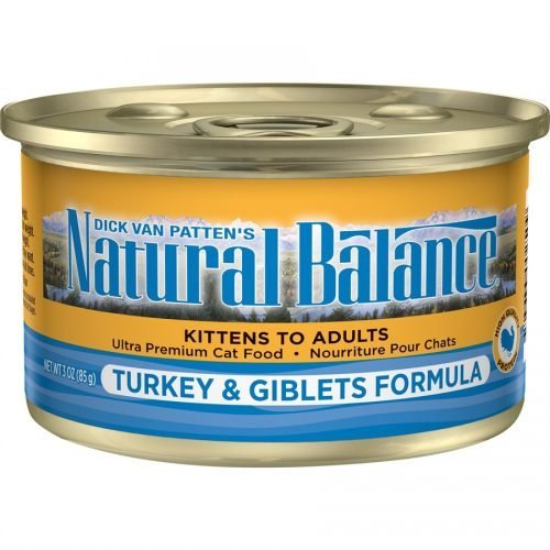 Natural Balance Cat Turkey & Giblets Formula Cans 24/3oz