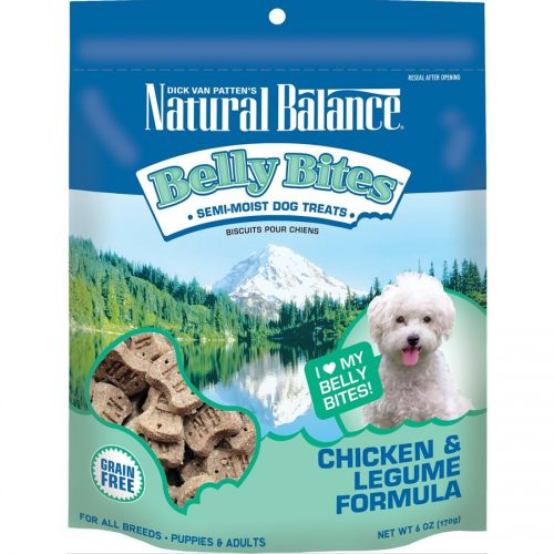 Natural Balance Dog Belly Bites Chicken & Legume Formula Treats 6oz