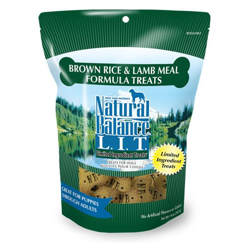 Natural Balance Dog LIT Brown Rice & Lamb Formula Treats 14oz