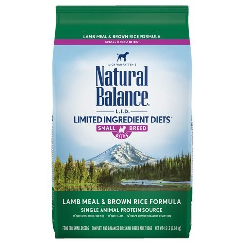 Natural Balance Dog LIT Brown Rice & Lamb Small Breed Formula Treats 8oz