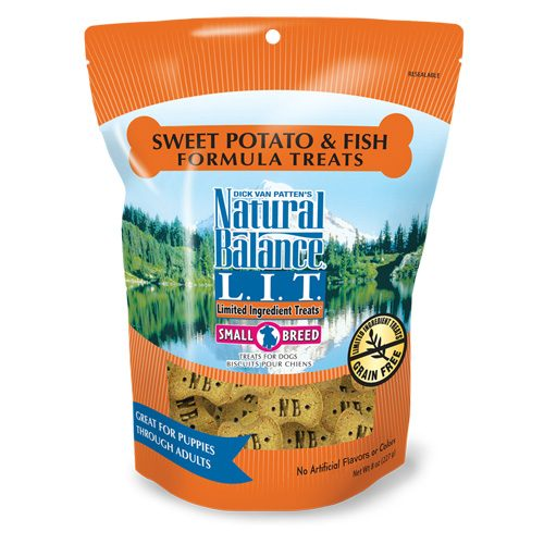 Natural Balance Dog LIT Sweet Potato & Fish Small Breed Formula Treats 8oz