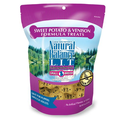 Natural Balance Dog LIT Sweet Potato & Venison Small Breed Formula Treats 8oz