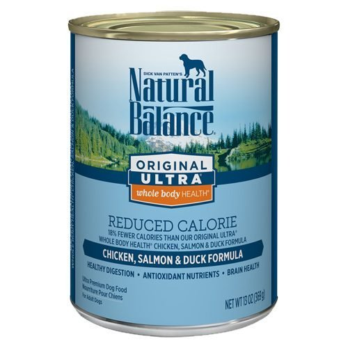 Natural Balance Dog Original Reduced Calorie Formula Cans 12/13oz