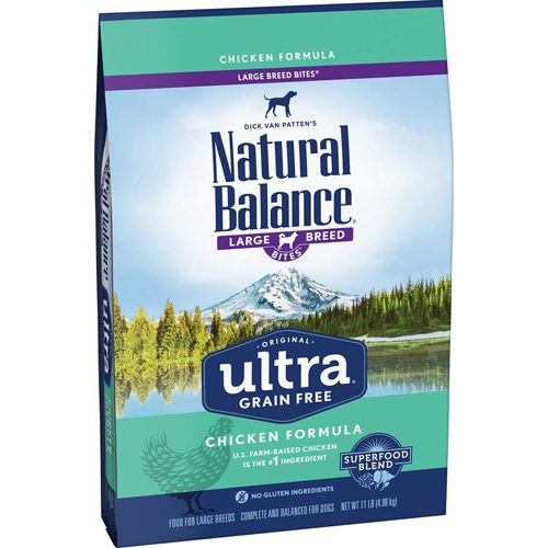 Natural Balance Dog Ultra Grain Free Chicken Large Breed Formula 11LB