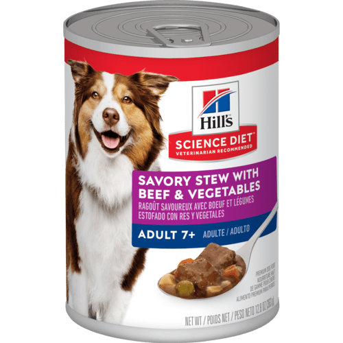 Hill's Science Diet Adult 7+ Savory Stew with Beef & Vegetables Canned Dog Food