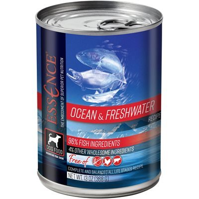 Essence High Protein Grain Free Ocean & Freshwater Recipe for Dogs 12/13oz