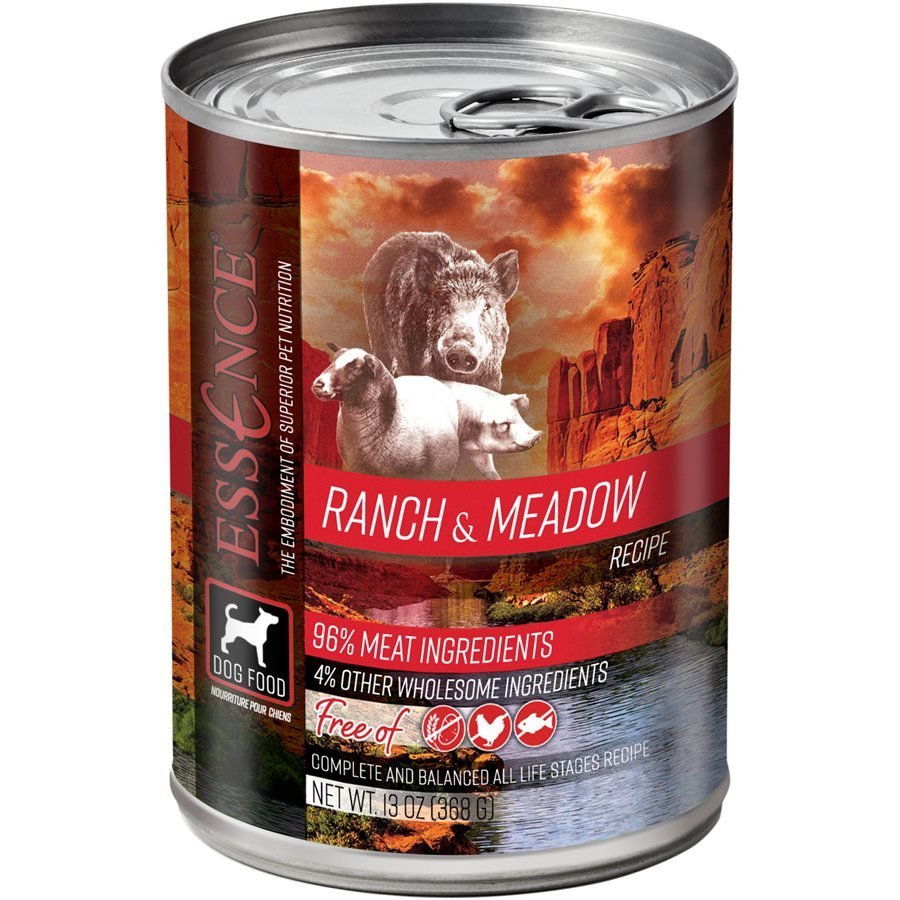 Essence High Protein Grain Free Ranch & Meadown Recipe for Dogs 12/13oz